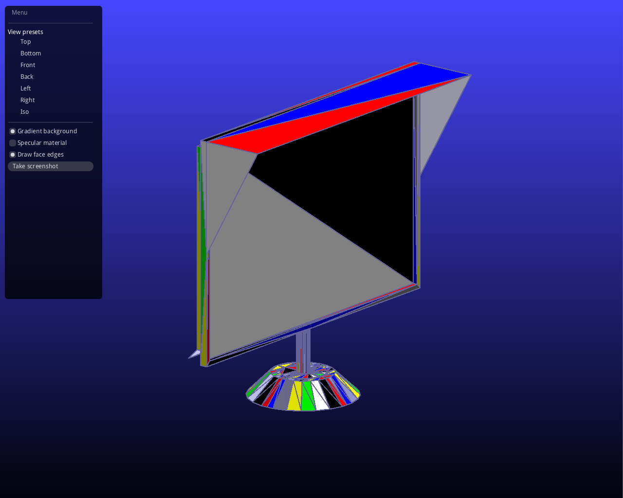 Visualizing Triangular Meshes from  off Files using Python